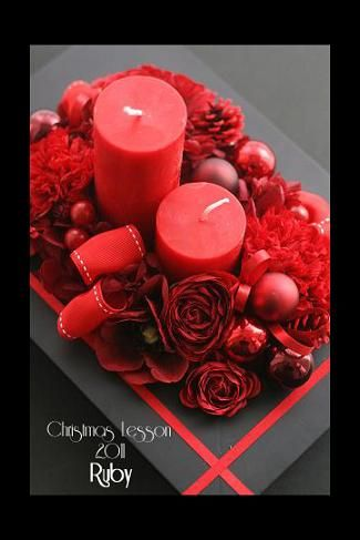 Ruby Candle Arrangement  by bloomish