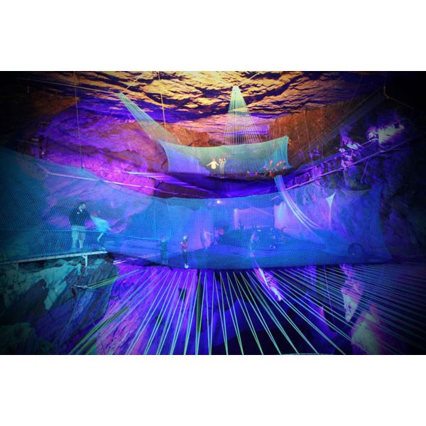 Bounce Below Trampoline Experience - bounce about on a giant trampoline in an underground cavern! #valentines day gift birthday treat fun