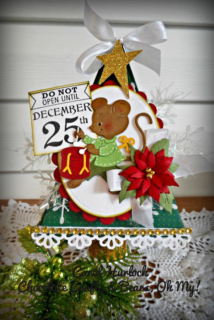 54 best images about cottage cutz cards on pinterest for Christmas card holder craft project
