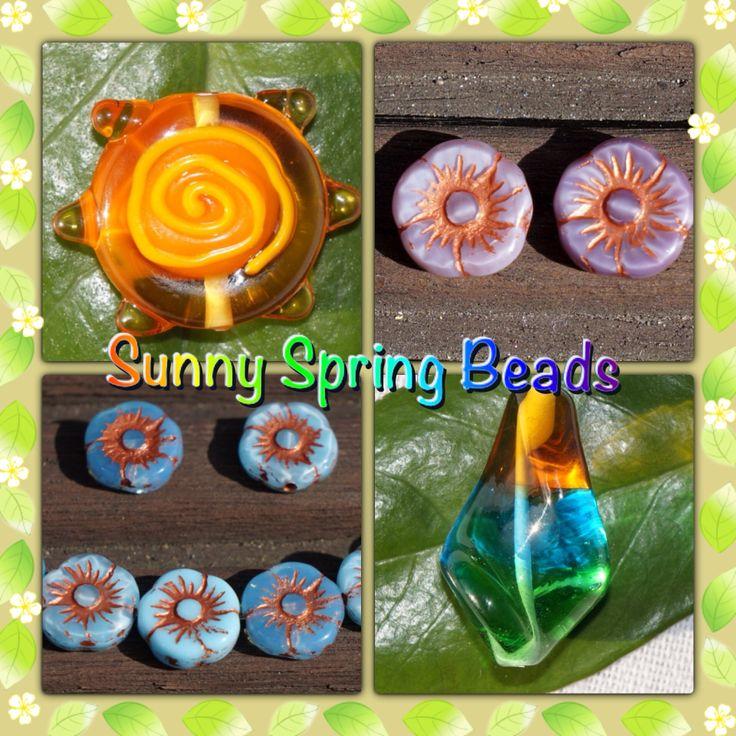 New sunny Spring beads! Spring is here: www.CzechBeadsExclusive.etsy.com #etsy #beads #czech #beaded #shop #jewelry #glass #spring #handmade #beadwork #fashion #beading