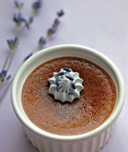 chocolate custard delicious chocolate culinary lavender lavender ...