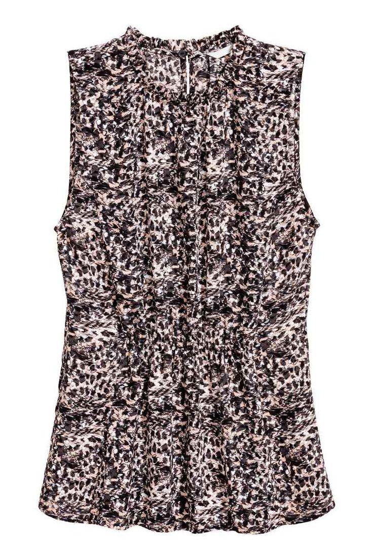 Mouwloze blouse - Poeder/dessin - DAMES | H&M NL