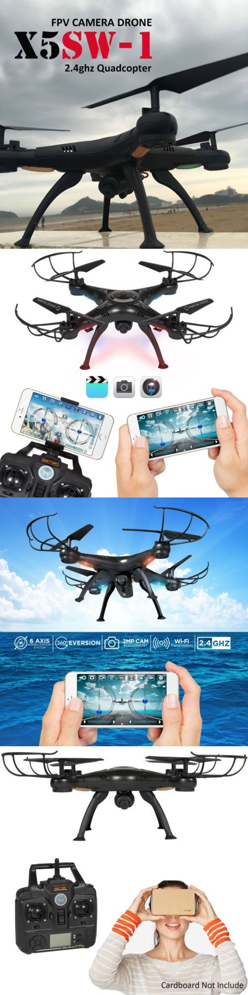 Other RC Model Vehicles and Kits 182186: X5sw -1 Wifi Rc Quadcopter Drone With Hd Camera Rtf Black Uav Arf Drone Fpv 2.4G -> BUY IT NOW ONLY: $46.54 on eBay!