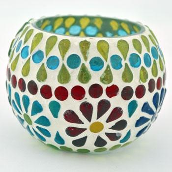 Mosaic Globe Candle Holder $5