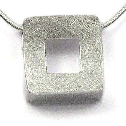 Colier și pandantiv argint Vinani pătrat