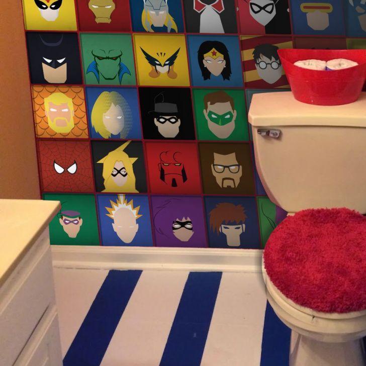 Adesivo de parede de super heróis para deixar sua casa poderosa.