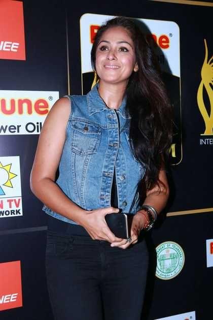 Actress Simran Stills At IIFA Utsavam Press Meet