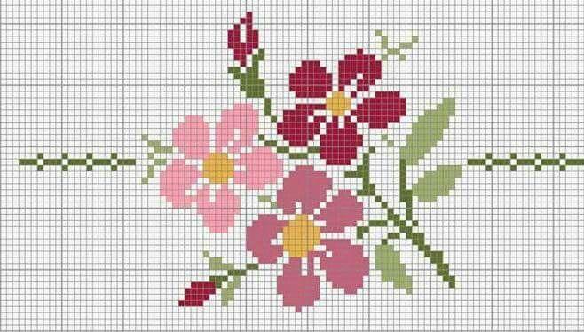flores em ponto cruz           |  <br/>    Crossst