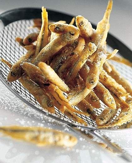 """Alborelle"" - fried fish, a Lake Como speciality!"