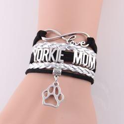 Yorkie Mom Yorkshire Terrier Bracelet  SALE PRICE$15.95