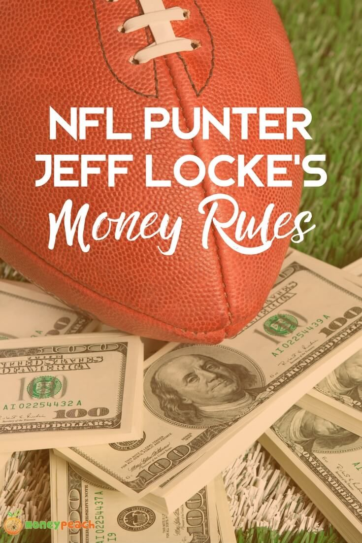 NFL players are known for their athleticism—and likelihood ofgoing broke. Punter Jeff Locke is actively striving to reverse the troubling trend. via @https://www.pinterest.com/TheMoneyPeach/