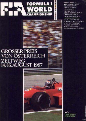 25* Grosser Preis von Osterreich, Osterreichring, 1987