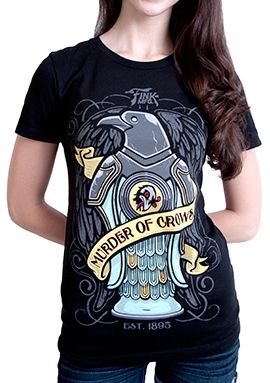 Murder of Crows Tattoo T-Shirt (Women's) via the Irrational Games Store.