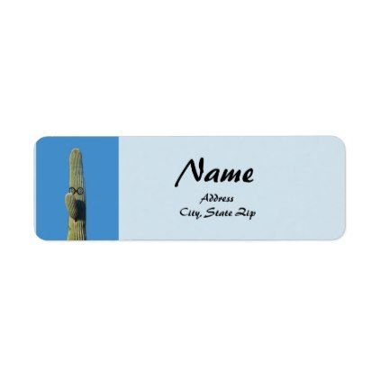 Humorous Tall Saguaro Arizona Cactus Label - labels customize diy cyo personalize