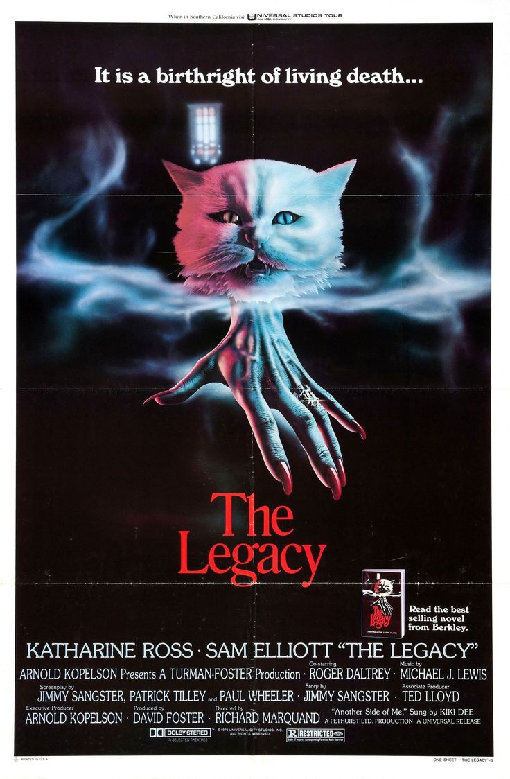 """""""Six came to claim it..."""" The Legacy (1978) poster is"""