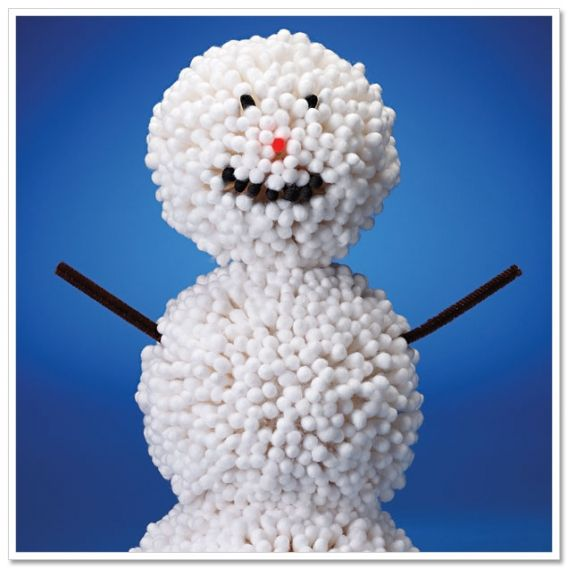 Winter Craft for Kids: Q-Tip Snowman