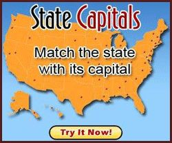Online free states and capitals game from Spelling City