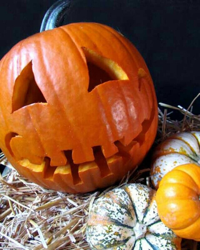 Decorationg ideas and pumpkin carving for Halloween.