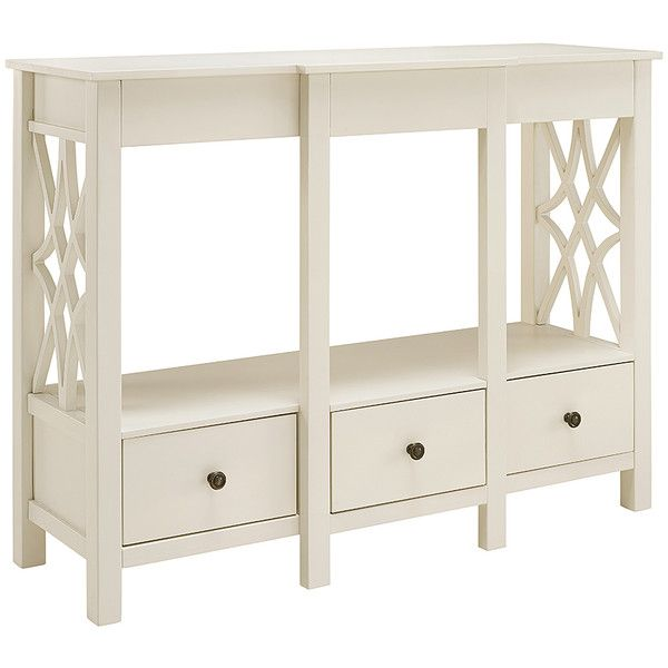 Linon Home Whitley Antique TV Stand 168 Liked On Polyvore Featuring Furniture Storage Shelves Entertainment Units Shelving White