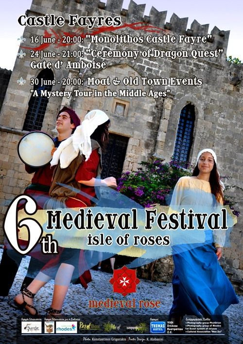 Events details for 6th Medieval Festival of Rhodes on 24 Jun 2012 to 30 Jun 2012 - Guide2Rhodes