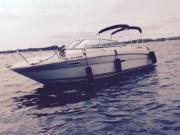 Mercruiser 5.0L MPI 260 HP, 285 hours. Longueur totale de 24,5 pieds avec grande plate-forme de baignade et échelle.  Un bateau fiable de grande qualité. Réservoir d'eau potable, lavabo avec pompe électrique, toilette chimique, douche à l'arrière du bateau, table de cockpit, ancrage pour BBQ sur la plateforme de baignade, toit bimini et toile campeur avec moustiquaires, profondimetre, radio AM/FM, ancre, volant ajustable, tapis détachable, 2 batteries avec sélecteur (1, 2 ou dual)…