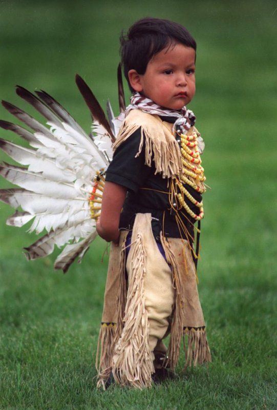 Young Indian Dancer in Montana