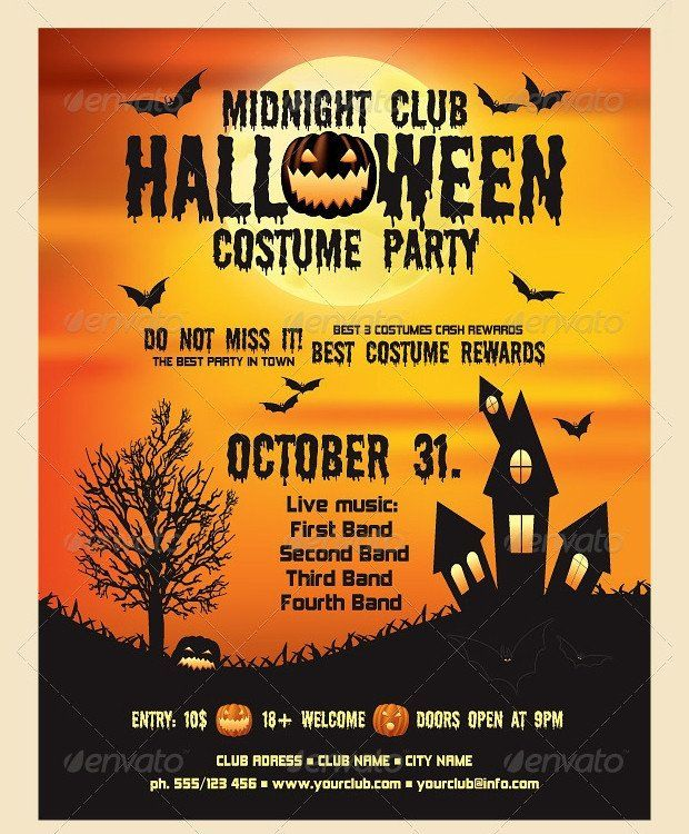 Free Halloween Flyers Templates 21 Halloween Flyer Designs And Templates Download Halloween Party Flyer Halloween Flyer Potluck Party Invitations