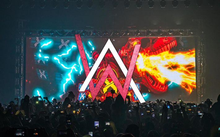Download Wallpapers Alan Walker Stage Dj Logo Concert Dj Alan