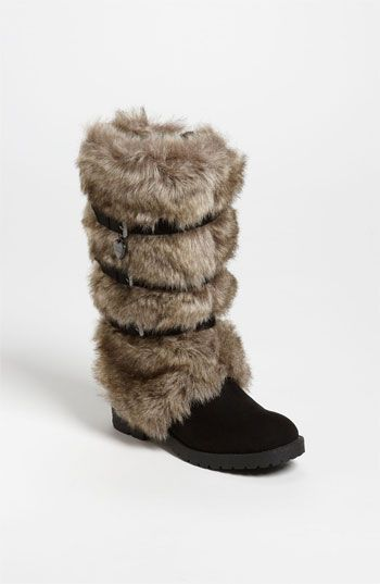 KORS Michael Kors 'Abrielle' Faux Fur Boot (Little Kid  Big Kid) available at #Nordstrom