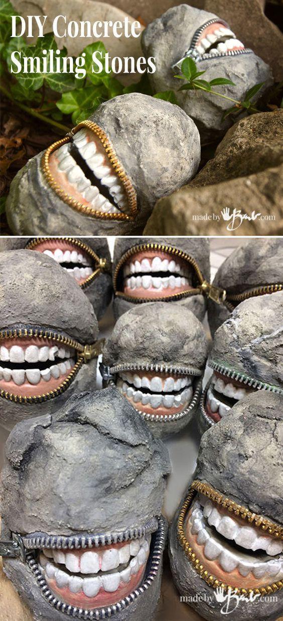 Fabulous Concrete Smiling Stones