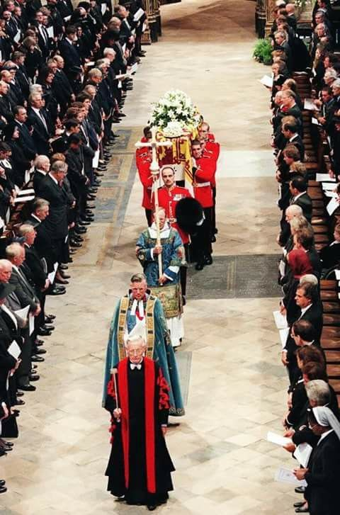 The funeral of Diana,Princess of Wales.6th September 1997.