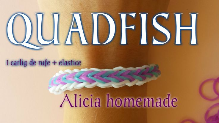 QUADFISH BRACELET WITH LOOM BANDS