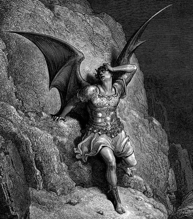 Gustave Doré, Depiction of Satan, the antagonist of John Milton's Paradise Lost c.1866.