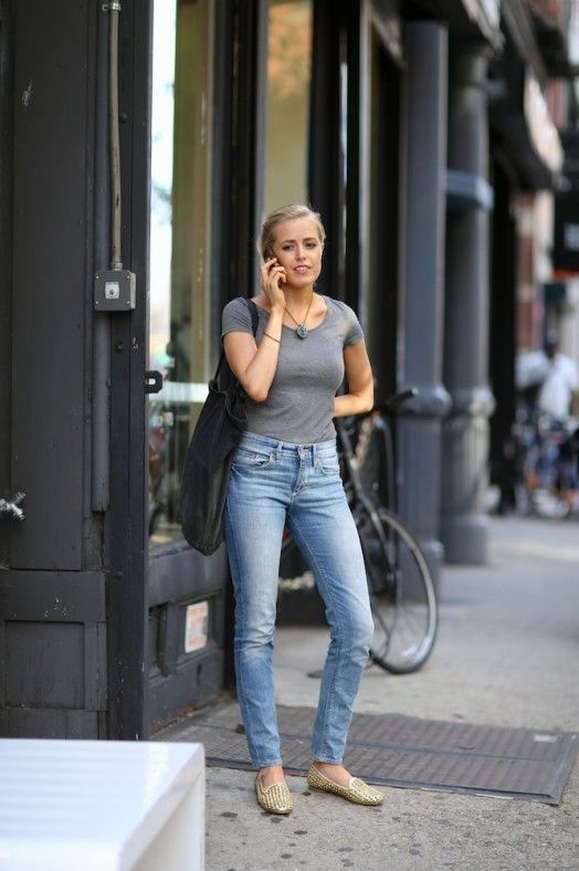 7 Ways to Style: T-Shirt and Straight Leg Jeans