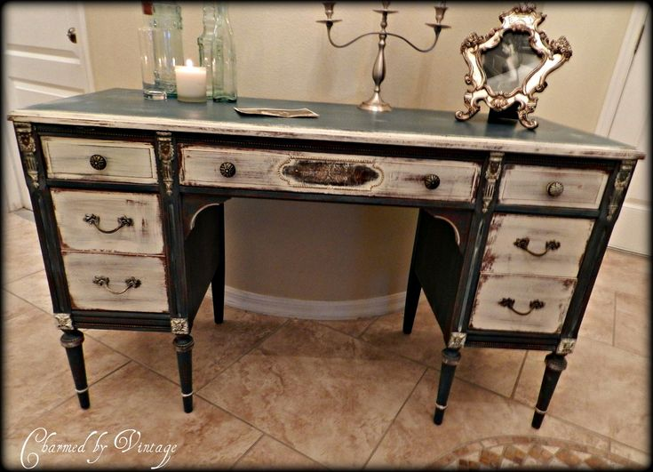 Antique Sligh Desk French Shabby Shabby Chic Vanities And Offices