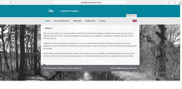 Voor Jolanda Brink Translations uit Klarenbeek heeft Logisch! een multi-language site ontwikkeld. www.jolandabrinktranslation.com #website