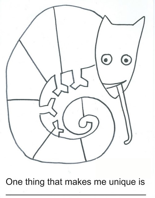 here39s a worksheet for the mixed up chameleon eric carle With eric carle chameleon template