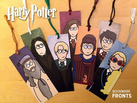 Harry Potter Character Bookmarks by theartmash on Etsy, $2.50