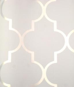 Lovely above the dining room panels. Light, airy, reflective of kitchen arabesque. And get the white and metal table!