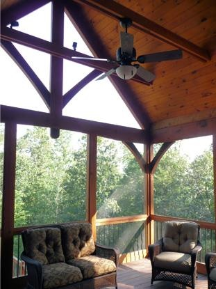 1000 images about house build exterior elements on for Timber frame screened porch