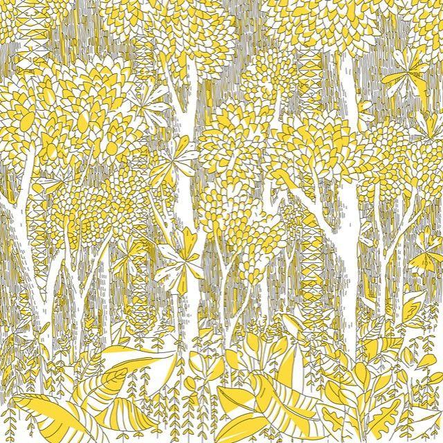 #dessin bientôt sur #totebag  #illustration inspirée de la #jungle #forest #jaune #yellow #nature
