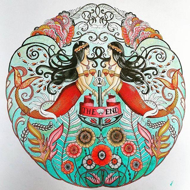 Pikore Coloring BooksAdult ColoringColouringJohanna BasfordMermaidVintage