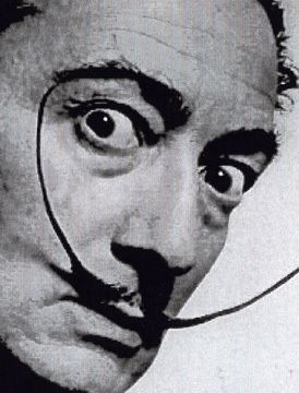 Salvador Dali needed a crazy mustache to match the craziness of his surreal paintings and his love of walking his pet lobster. So he decided to go with this pointy get-up. I think it works for him. He looks crazy as all hell