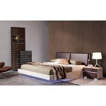 $1,689.00 VIG Furniture - Anzio Contemporary Floating Bed With LED Lights - VGWCSW-B01