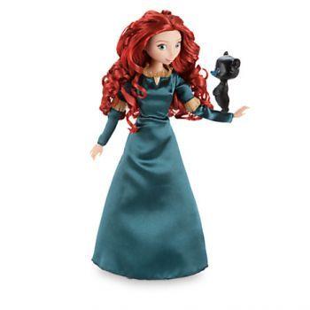 Кукла шарнирная Принцесса Мерида с медвежонком, Disney