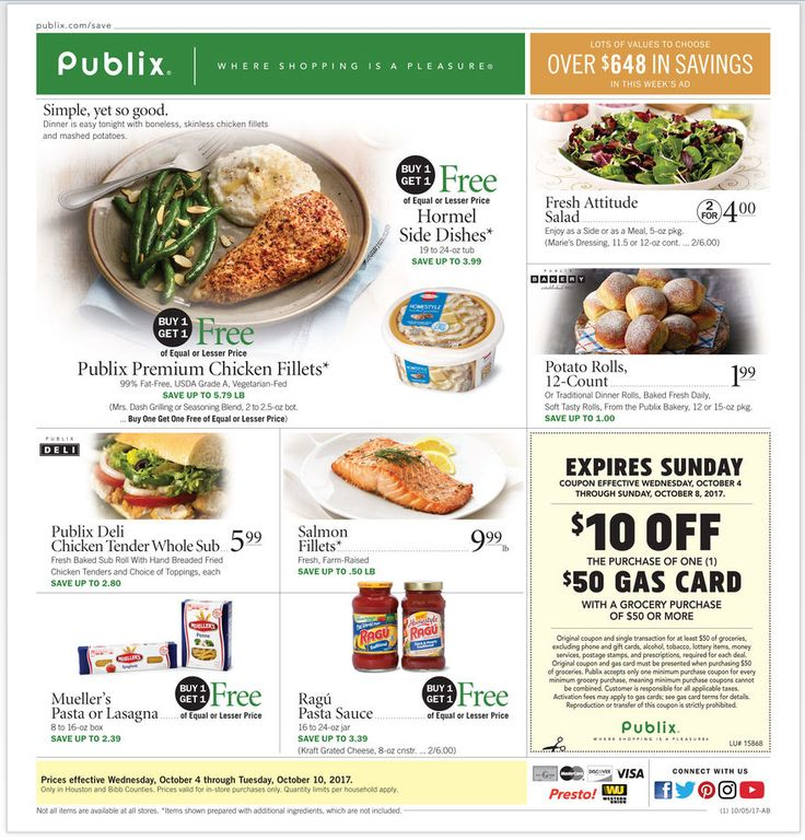 Publix Weekly Ad October 4 - 10, 2017 - http://www.olcatalog.com/grocery/publix-weekly-ad.html