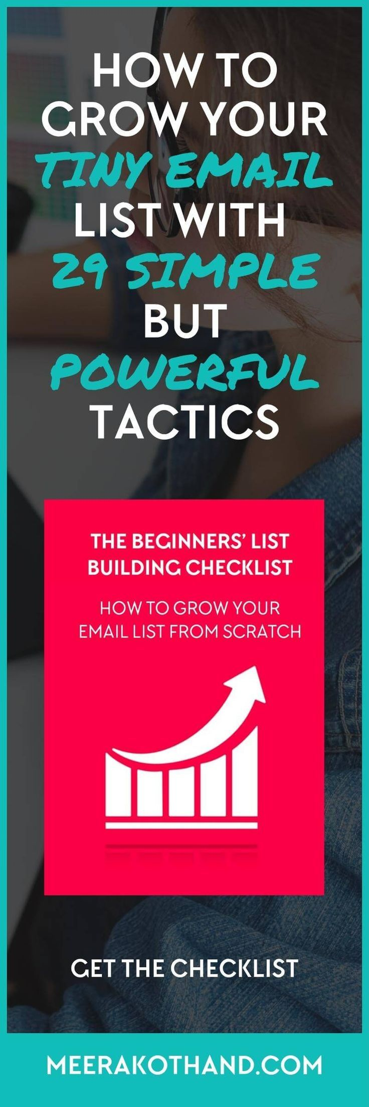 Are you optimizing your blog in the right way so that you don't leak subscribers? Are you doing simple but highly effective things that could add targeted subscribers to your list and grow it every single day? In this post, I share 29 simple but powerful strategies that I've tried to grow my email list. My favourite strategy is #13.