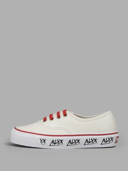 b12b0fdf86ee98 ALYX Alyx X Vans Women S Off-White Printed Sole Sneakers.  alyx  shoes   sneakers