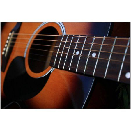 Acoustic Guitar Photography by Eazl, Size: 24 x 16, Brown