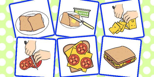 #71 - 6 Step Sequencing Cards Making a Sandwich - sequencing, cards